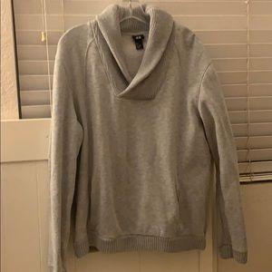 Men's gray warm sweater